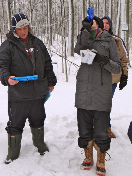 Measuring tree height using a clinometer